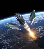 picture of starship  - Launch Of Cargo Spacecraft  - JPG