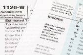image of cpa  - Financial business document US income tax form - JPG