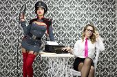picture of kinky  - beautiful military boss and her sexy secretary - JPG