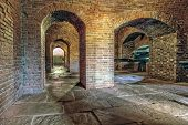 picture of artillery  - Historic brick archway and tunnel - JPG