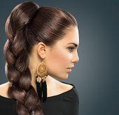 image of dark-skin  - Bride hairstyle - JPG
