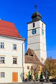 foto of sibiu  - Council tower in old town Sibiu - JPG