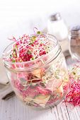 stock photo of soybean sprouts  - sprouts salad - JPG