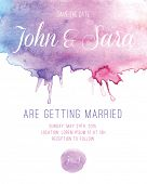foto of ombres  - Watercolor Wedding Invitation Card - JPG