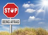 foto of panic  - stop fear or being afraid for snakes height needles spiders darkness arachnaphobia phobia psycholigical paralysis panic attack - JPG