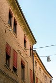 foto of ferrara  - Ancient medieval house in the downtown of Ferrara - JPG