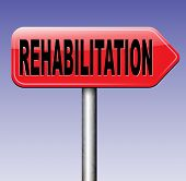 picture of sports injury  - rehabilitation rehab for drugs alcohol addiction or sport and accident injury physical or mental therapy  - JPG