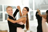 picture of waltzing  - Ballroom dance in motion - JPG