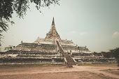 stock photo of thong  - Wat Phu khao Thong - JPG
