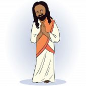 image of vishu  - Indian man  giving a traditional salute - JPG