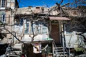 picture of armenia  - Photo of the shanty in urban district for poor Yerevan Armenia - JPG