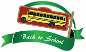 stock photo of driving school  - Symbol with yellow school bus back to school - JPG