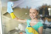 foto of window washing  - people - JPG