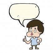 image of attitude boy  - cartoon boy giving thumbs up with speech bubble - JPG