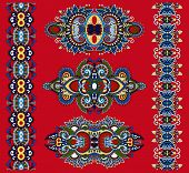 picture of adornment  - ornamental ethnic decorative floral adornment - JPG