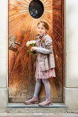 picture of girl next door  - Outdoor portrait of a cute little girl of 7 years old - JPG