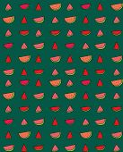 pic of watermelon slices  - Vector seamless pattern of slices of watermelon - JPG