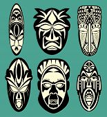 foto of african mask  - African Masks - JPG