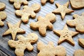 picture of gingerbread man  - Gingerbread cookies in shapes of heart - JPG