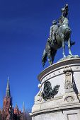 Постер, плакат: Major General George Henry Thomas Civil War Statue Memorial Lutheran Church Thomas Circle Washingto