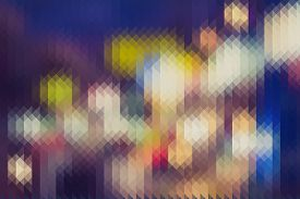 image of pixel  - The Colourful abstract triangles pixel for background - JPG