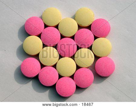V Pills Shape poster