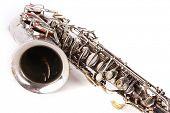 stock photo of jive  - saxophone on isolated white background - JPG