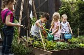 Group of Diverse Kids Learning Environment at Farm poster