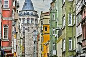 Galata Tower In The Galata Quarter Of Istanbul, Turkey poster