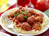 foto of spaghetti  - hearty spaghetti dinner - JPG