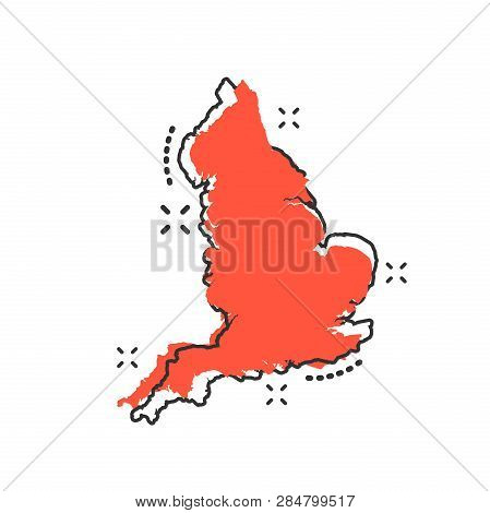 Vector Cartoon England Map Icon