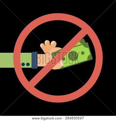 Hand Hold Cash Money Under