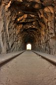image of anza  - Cool old railroad tunnel in the Anza - JPG