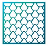 Vector Template Laser Cut Square  Panel. Inspired By Chinese And Japanese  fish Scale Motif For De poster