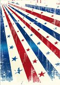 Star of america. A grunge tricolor US background for you.