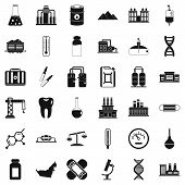 Chemical Plant Icons Set. Simple Style Of 36 Chemical Plant Icons For Web Isolated On White Backgrou poster