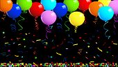 Party balloons background. This image is a vector illustration and can be scaled to any size without