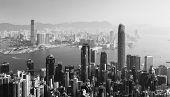 Chineese city Hongkong poster