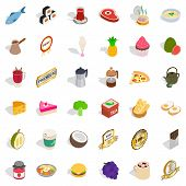 Tasty Drink Icons Set. Isometric Style Of 36 Tasty Drink Icons For Web Isolated On White Background poster