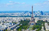 Scenic View From Above (from Montparnasse Tower) On Eiffel Tower, Champ De Mars, Paris, France poster