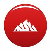 Extreme Mountain Icon. Simple Illustration Of Extreme Mountain Vector Icon For Any Design Red poster
