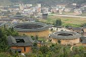Fujian Tulou in China, old building overview