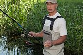 picture of sabbatical  - Man fishing - JPG