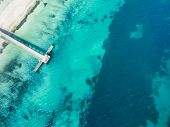 Aerial Photograph Of The Jetty At Coogee Beach In Perth, Western Australia, Australia, On A Beautifu poster