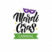 Mardi Gras Lettering poster