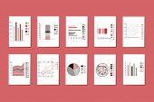 Vector Set Of Various Graphs, Charts, Pie Charts, Diagrams For Business, Infographic. Diagram Pie, C poster