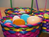 pic of peter cottontail  - three easter baskets with focus on the front one - JPG