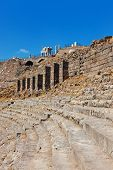 Ruins In Ancient City Of Pergamon Turkey