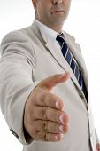 Businessman Offering Hand Shake