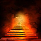 pic of entryway  - Staircase leading to heaven or hell - JPG